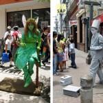 Las estatuas vivientes, espectáculo digno de ver