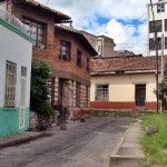 Las calles de piedra del centro de Tegucigalpa