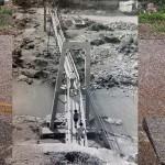 Probablemente la única foto del Puente de El Chile