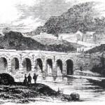 Grabado antiguo del puente