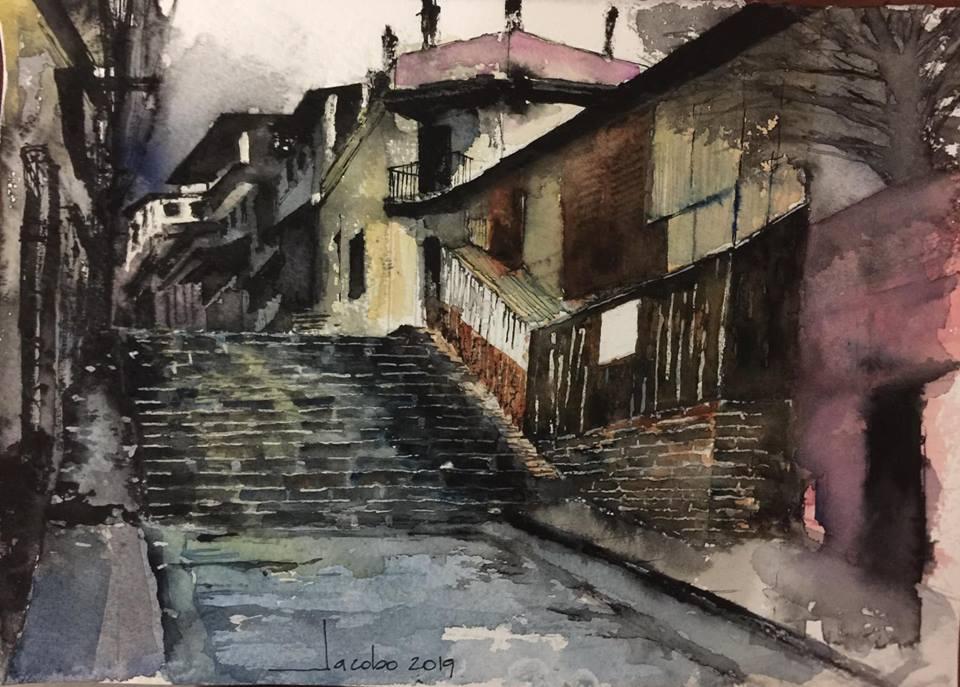 Subiendo por la Escuela Morazán- Por Jacobo Bertrand